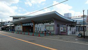 福井競輪場の入り口
