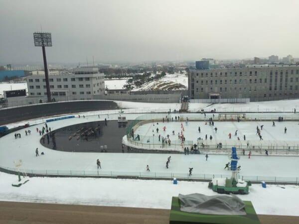 函館競輪場のスケート場