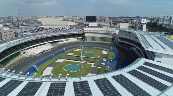 松戸競輪場の航空写真
